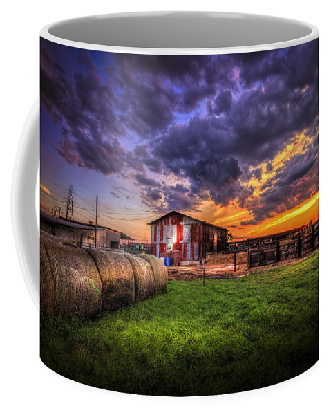 Barns Coffee Mug featuring the photograph Sunset Dairy by Marvin Spates