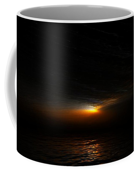 Digital Painting Coffee Mug featuring the digital art Sunset by David Lane