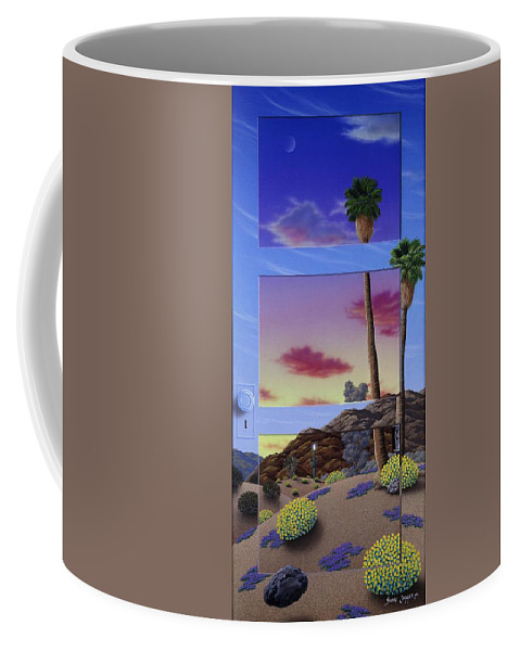 Landscape Coffee Mug featuring the painting Sunset Door by Snake Jagger