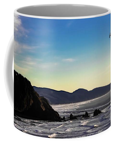 Jon Burch Coffee Mug featuring the photograph Sunset Eagle by Jon Burch Photography