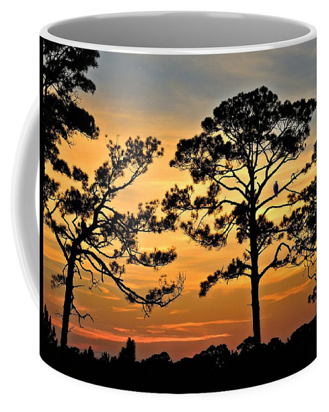 Landscape Coffee Mug featuring the photograph Sunset For One by Laura Ragland