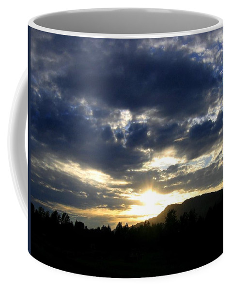 Sunset Coffee Mug featuring the photograph Sunset From Mcarthur Island by Will Borden