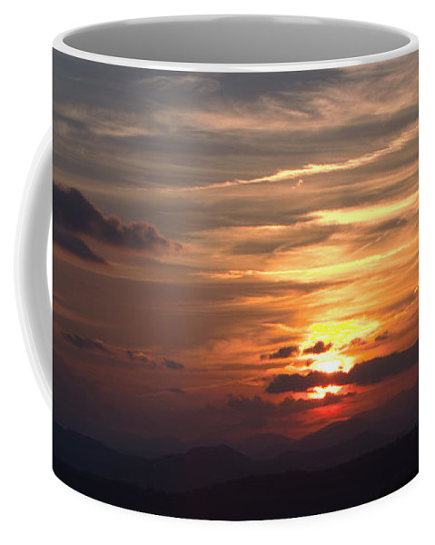 Mountains Coffee Mug featuring the photograph Sunset From The Blue Ridge Parkway Ll by John Harmon