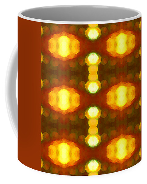 Abstract Painting Coffee Mug featuring the digital art Sunset Glow 1 by Amy Vangsgard