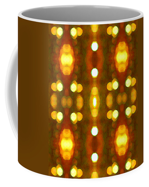 Abstract Coffee Mug featuring the painting Sunset Glow 2 by Amy Vangsgard