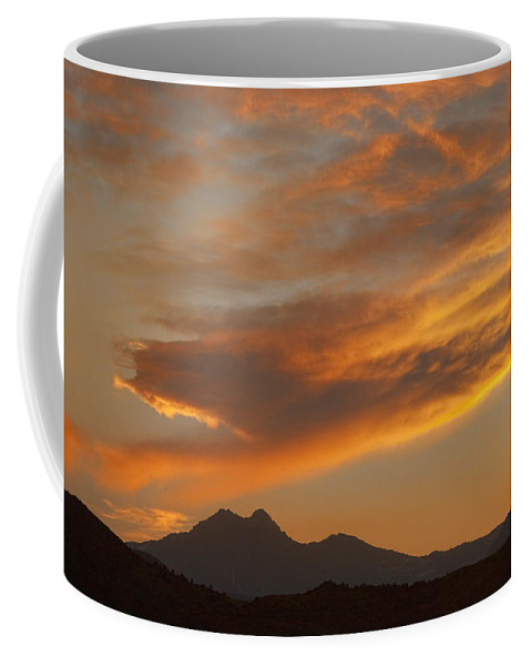 nature Photography Coffee Mug featuring the photograph Sunset Glow Over The Twin Peaks by James BO Insogna