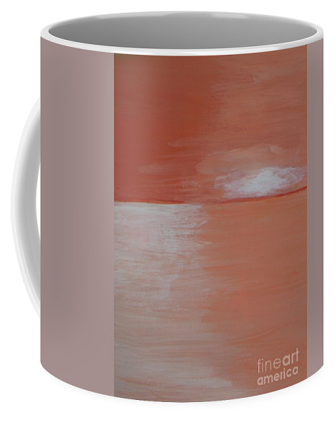 Abstract Landscape Coffee Mug featuring the painting Sunset Glow by Vesna Antic