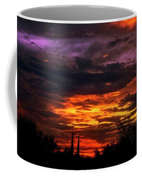Arizona Coffee Mug featuring the photograph Sunset H16 by Mark Myhaver