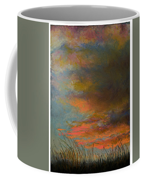 Landscape Coffee Mug featuring the painting Sunset Hill by Susan Jenkins