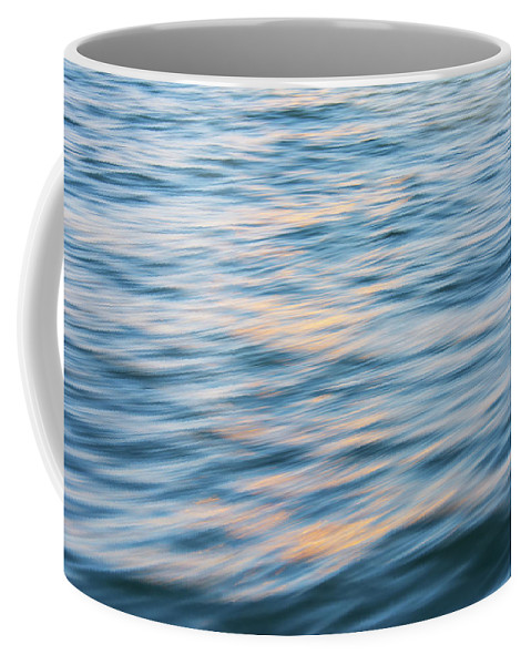 Nature Abstract Coffee Mug featuring the photograph Sunset Hudson River by KM Corcoran
