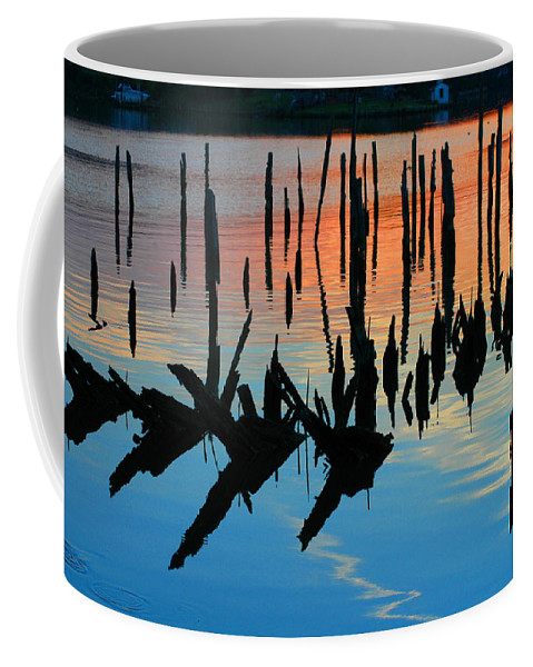 Clay Coffee Mug featuring the photograph Sunset In Colonial Beach Virginia by Clayton Bruster