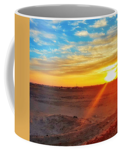 Sunset Coffee Mug featuring the photograph Sunset in Egypt by Usman Idrees