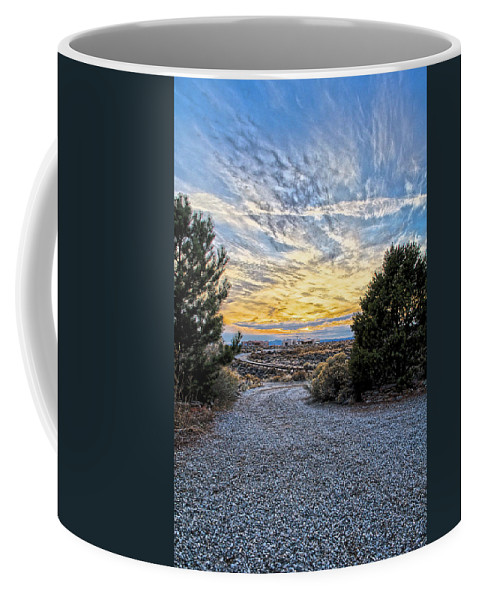 El Coffee Mug featuring the photograph Sunset In El Prado by Charles Muhle
