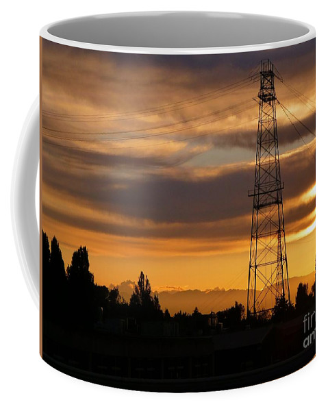 Sunset Coffee Mug featuring the photograph Sunset In Fremont by As the Dinosaur Flies Photography