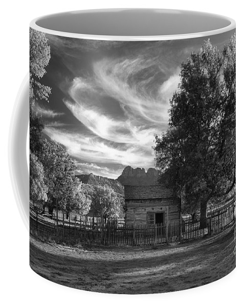 Black & White Coffee Mug featuring the photograph Sunset In Grafton Ghost Town by Sandra Bronstein