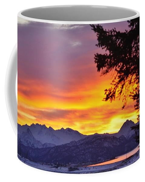 Sunset In Homer Alaska Coffee Mug featuring the photograph Sunset In Homer Alaska by Lori Mahaffey