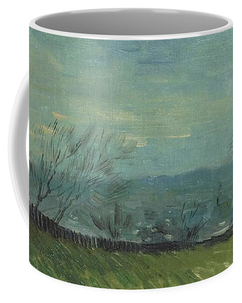 Nature Coffee Mug featuring the painting Sunset In Montmartre by Artistic Panda