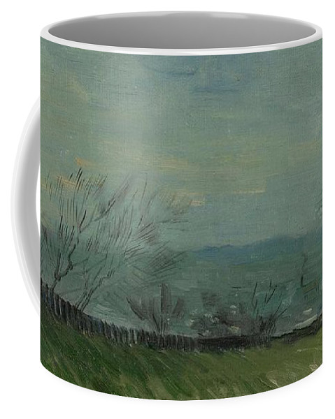 Nature Coffee Mug featuring the painting Sunset In Montmartre Paris, February - March 1887 Vincent Van Gogh 1853 1890 by Artistic Panda
