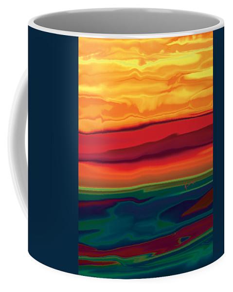 Art Coffee Mug featuring the digital art Sunset In Ottawa Valley 1 by Rabi Khan