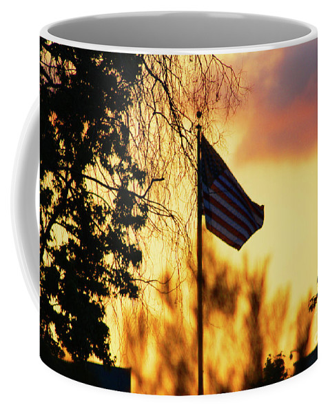 Flag Coffee Mug featuring the photograph Sunset In San Diego by Tommy Anderson