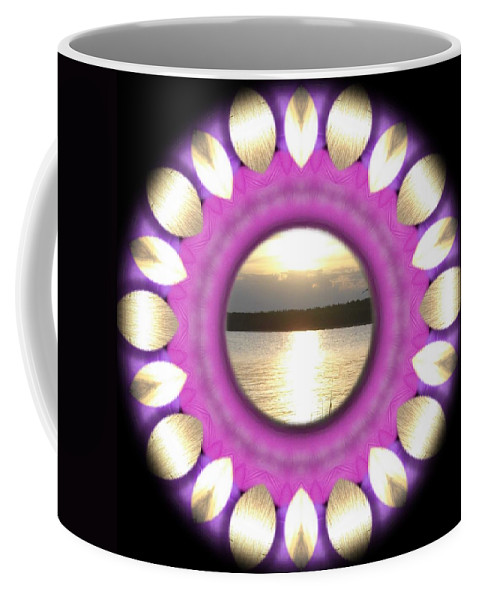 Sunset Coffee Mug featuring the mixed media Sunset In Summertime by Pepita Selles