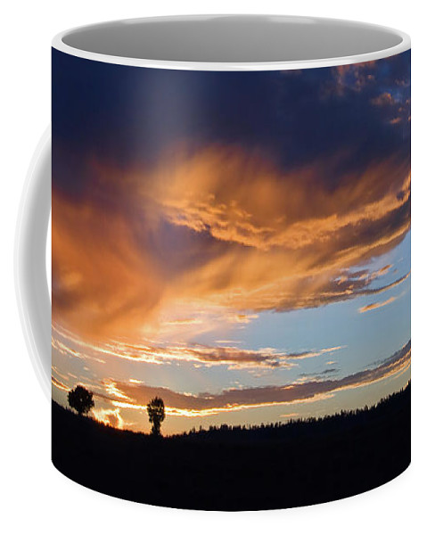 Utah Coffee Mug featuring the photograph Sunset In Utah by Delphimages Photo Creations