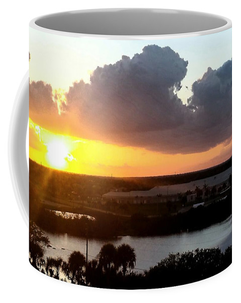 Sunset Coffee Mug featuring the photograph Sunset In Viera Florida by Paulo Guimaraes