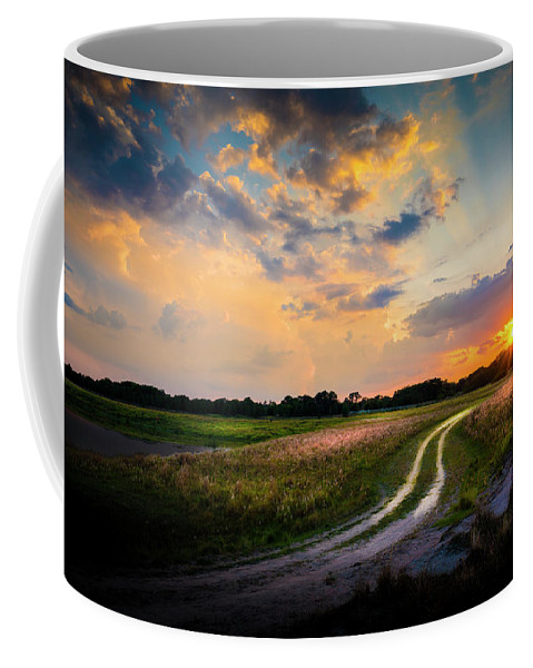 Backroads Coffee Mug featuring the photograph Sunset Lane by Marvin Spates