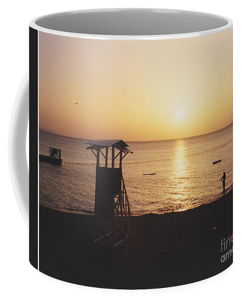 Sunsets Coffee Mug featuring the photograph Sunset Life Guard by Michelle Powell
