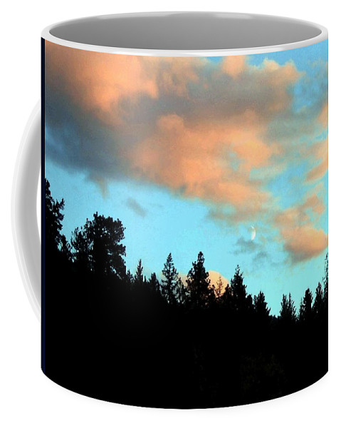 Sunset Coffee Mug featuring the photograph Sunset Moon by Will Borden