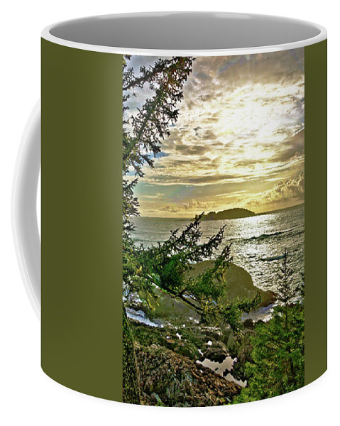 Sunset Coffee Mug featuring the digital art Sunset Off Vancouver Island by Sterling Haidt