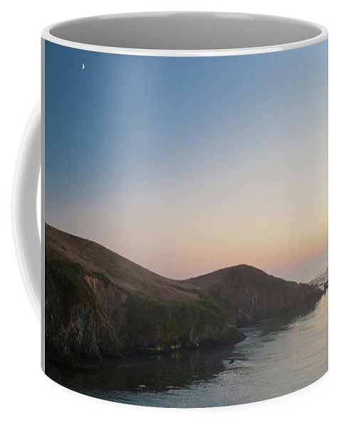 Sunset Coffee Mug featuring the digital art Sunset On Pacific Coast by Sterling Haidt