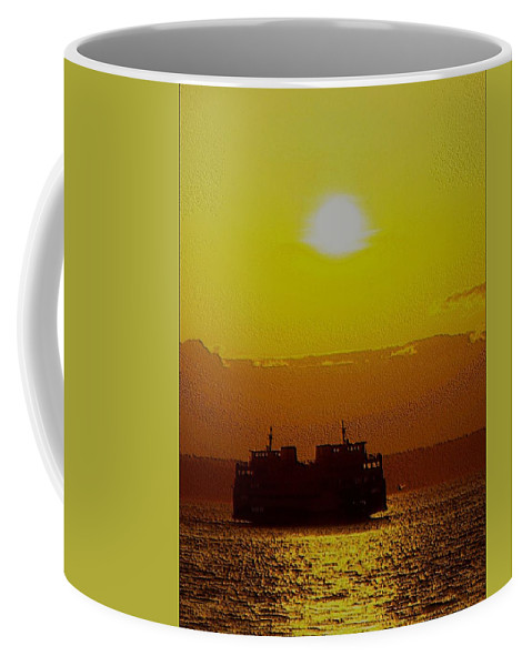 Seattle Coffee Mug featuring the photograph Sunset On Puget Sound by Tim Allen