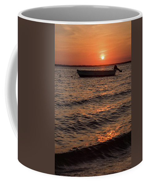 Terry D Photography Coffee Mug featuring the photograph Sunset On The Bay Lavallette New Jersey by Terry DeLuco