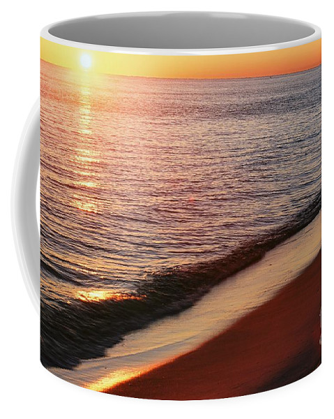 Sunset Coffee Mug featuring the photograph Sunset On The Beach by Ronnie Glover