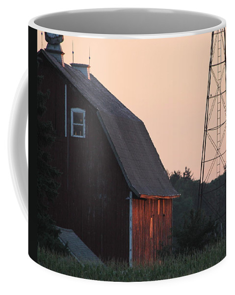 Farm Coffee Mug featuring the photograph Sunset On The Farm by Lauri Novak