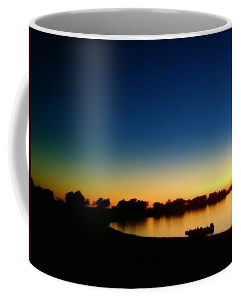 Sunset Coffee Mug featuring the photograph Sunset On The Lake... by Cindy New