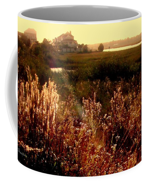 Marsh Coffee Mug featuring the photograph Sunset On The Marsh by Patricia L Davidson