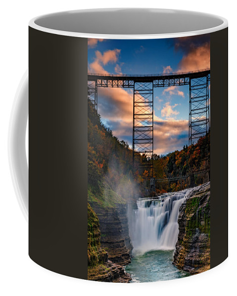 Autumn Coffee Mug featuring the photograph Sunset On The Upper Falls by Rick Berk