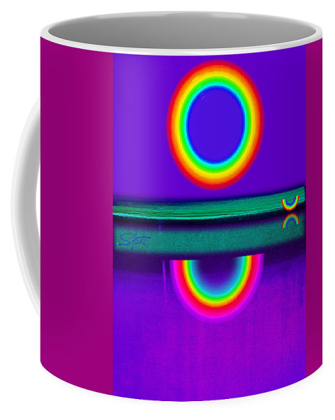 Reflections Coffee Mug featuring the painting Sunset On Violet by Charles Stuart