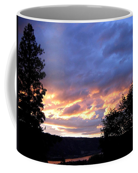 Sunset Coffee Mug featuring the photograph Sunset Over Kalamalka by Will Borden