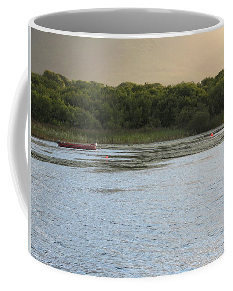 Boat Coffee Mug featuring the photograph Sunset Over Killarney by Kelly Mezzapelle