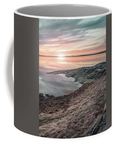 Background Coffee Mug featuring the photograph Sunset Over Lake Vanern, Sweden by Marcus Lindberg