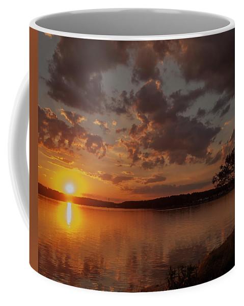 Sunset Coffee Mug featuring the photograph Sunset Over Shark River by Joe Valencia