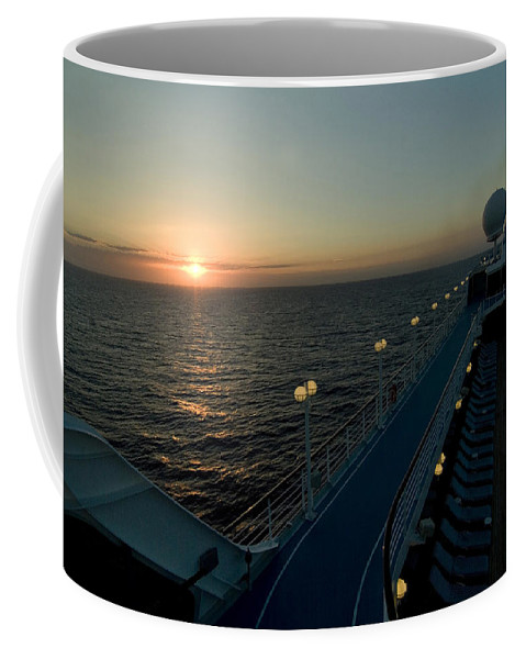 Roseau Coffee Mug featuring the photograph Sunset Over The Caribbean Sea As Seen by Todd Gipstein
