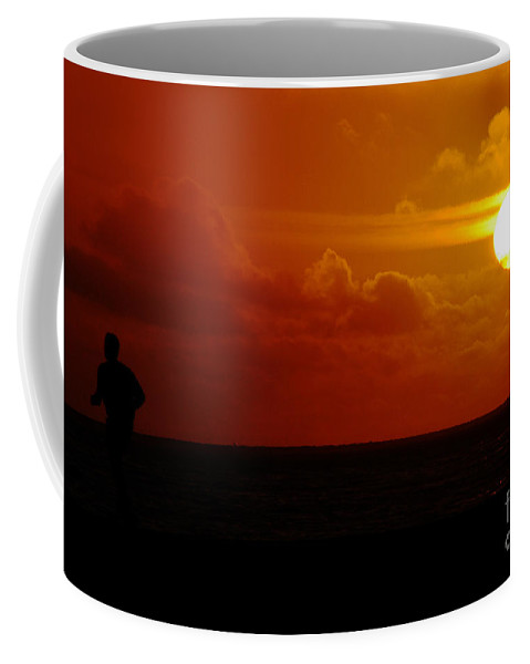 Clay Coffee Mug featuring the photograph Sunset Over The Pacific by Clayton Bruster