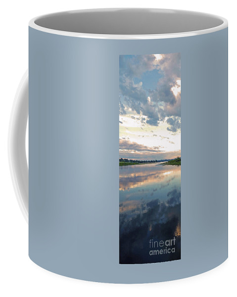 Sunset Coffee Mug featuring the photograph Sunset Over Union Bay Tall Panorama by As the Dinosaur Flies Photography