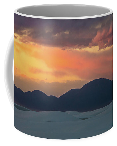 Sunset Coffee Mug featuring the photograph Sunset Over White Sands by Stephen Whalen