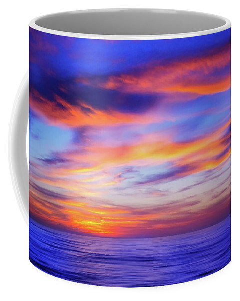 Beach Coffee Mug featuring the photograph Sunset Palette by Iryna Goodall