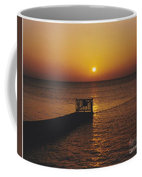 Sunsets Coffee Mug featuring the photograph Sunset Pier by Michelle Powell